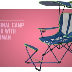Camping Chairs With Canopy Chair Stool Hire The 14 Best For Chilled Adventures In 2019 Cool Of Kelsyus Original Ottoman
