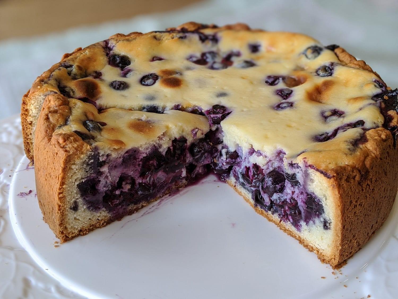 Easy German Blueberry Cheesecake- Heidelbeerkuchen   Carol   Copy Me That