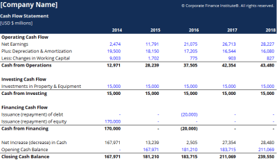 Cash Flow Statement Template - Download Free Excel Template