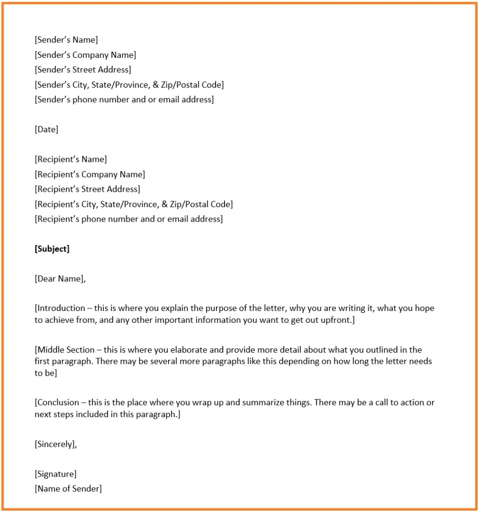 Commercial Banker Cover Letter Business Letter Format Overview Structure And Example