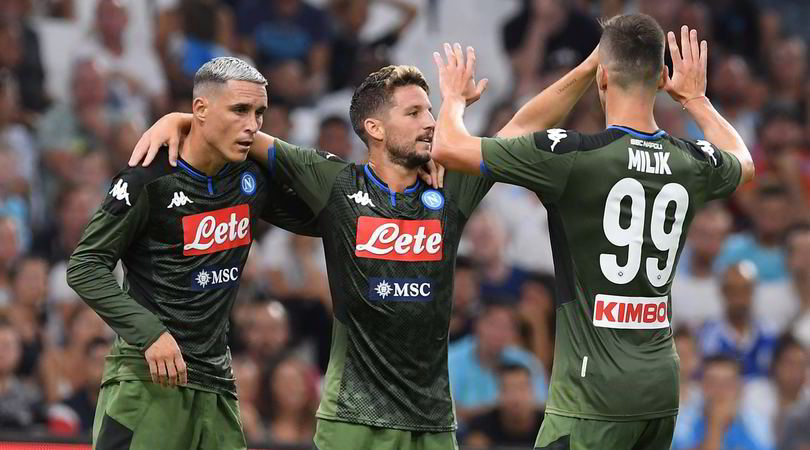 Olympique Marsiglia-Napoli 0-1: decide Mertens
