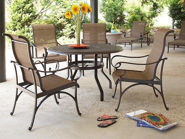 santa barbara outdoor dining table