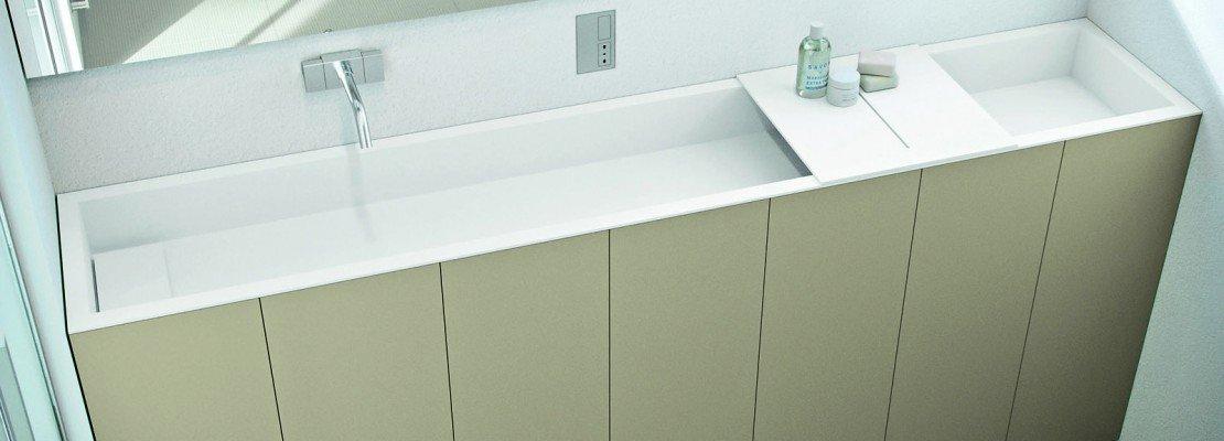Per il bagno stretto il lavabo modulare  Cose di Casa