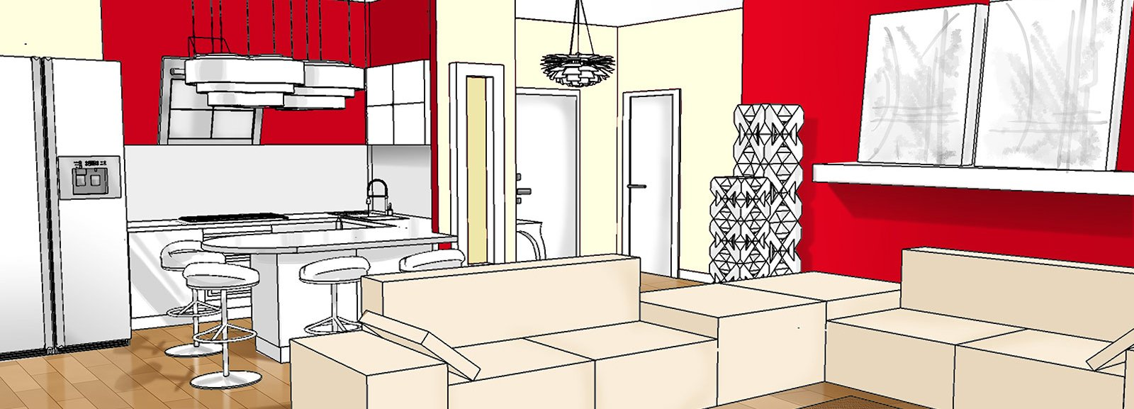Ingresso aperto sul soggiorno Idee da copiare  Cose di Casa