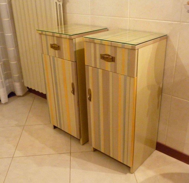 Restyling colorato per un vecchio mobiletto  Cose di Casa