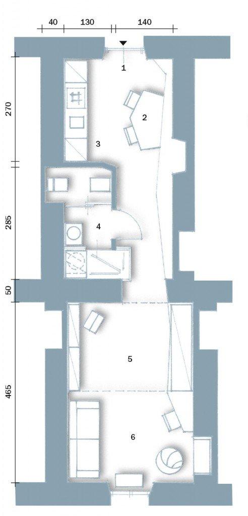 33 mq una casa sfruttata in lunghezza  Cose di Casa