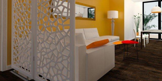 Come dividere ingresso e soggiorno Pianta e prospetto in 3D  Cose di Casa