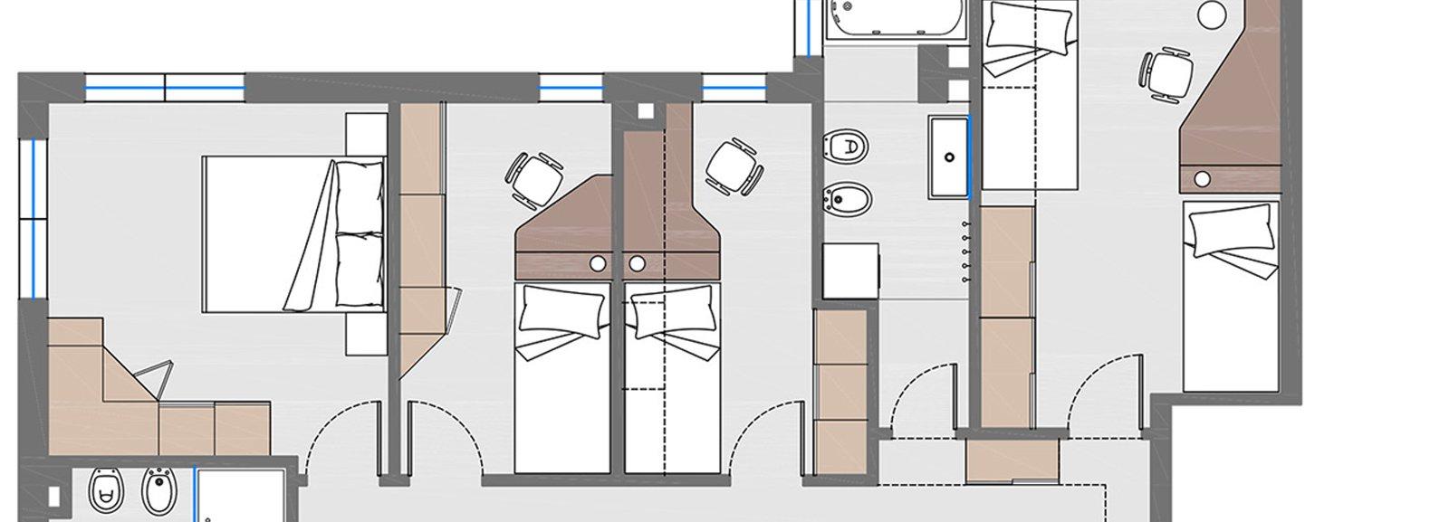 Ricavare una camera in pi da 3 a 4 Il progetto con le