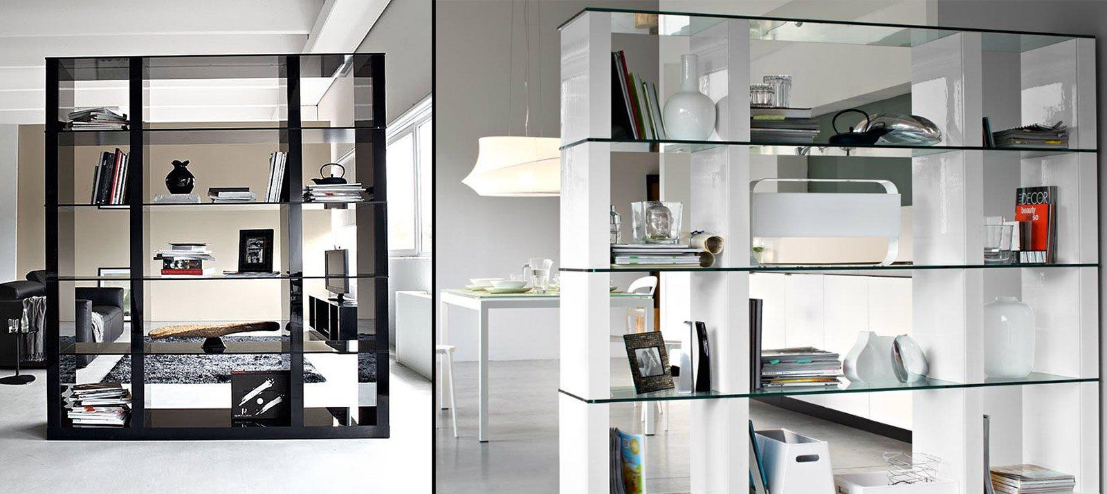 Librerie bifacciali per separare ambienti  Cose di Casa