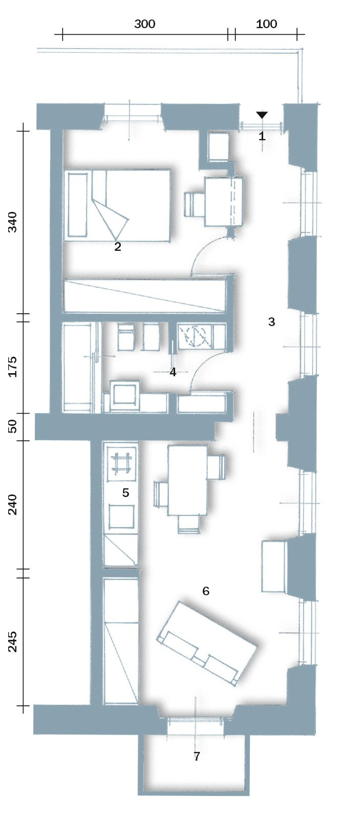 In 40 mq cambiano le prospettive  Cose di Casa