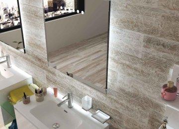 Pareti bagno effetto legno piastrelle per il bagno ceramica sant