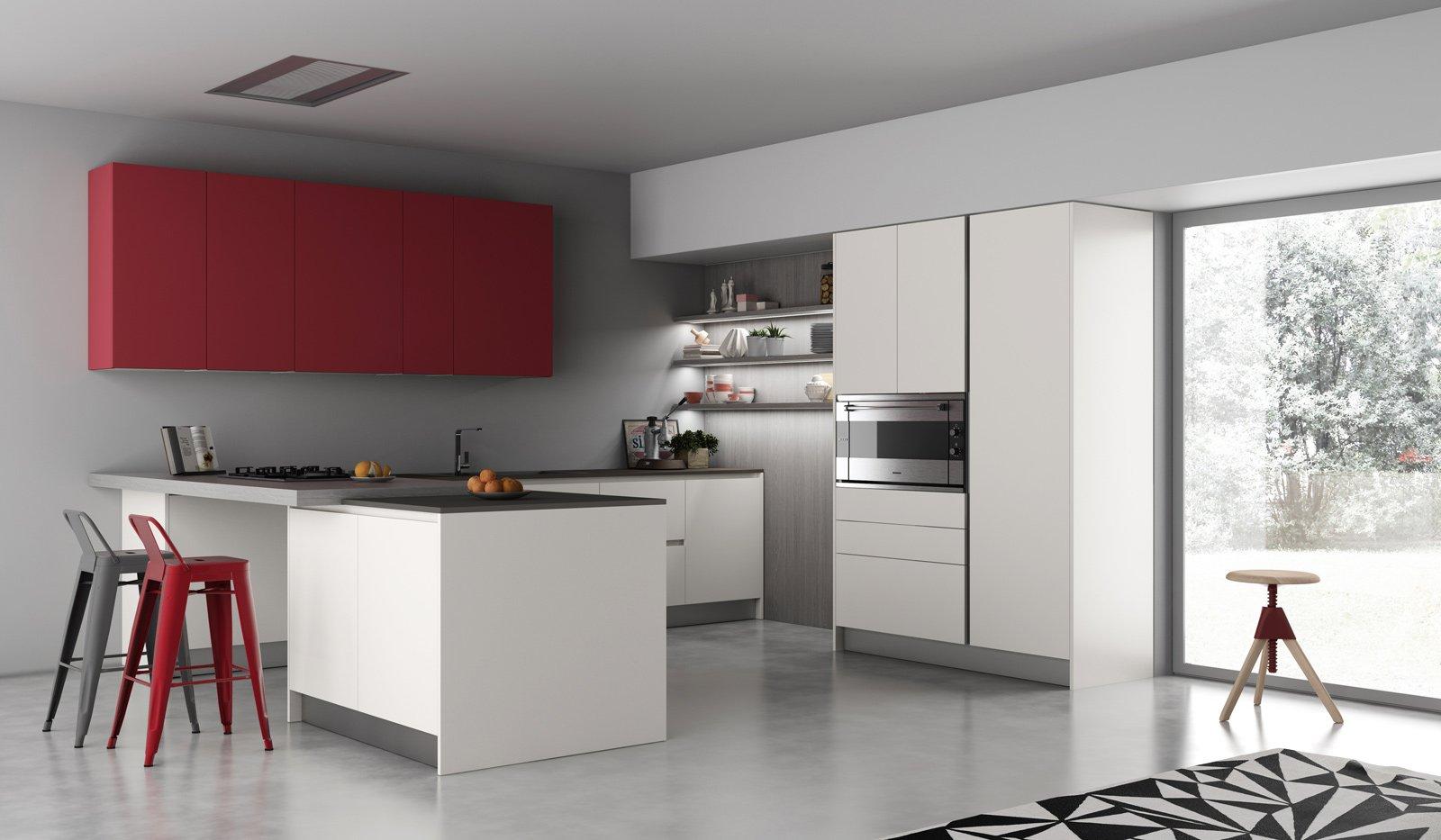 Cucina Grigia Colore Pareti - Idee per la progettazione di ...