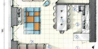 30 cucina e soggiorno open space 30 mq inidpfohor. In Cucina Definire Le Funzioni Con Le Penisole Progetto In Pianta Per 25 Mq Cose Di Casa