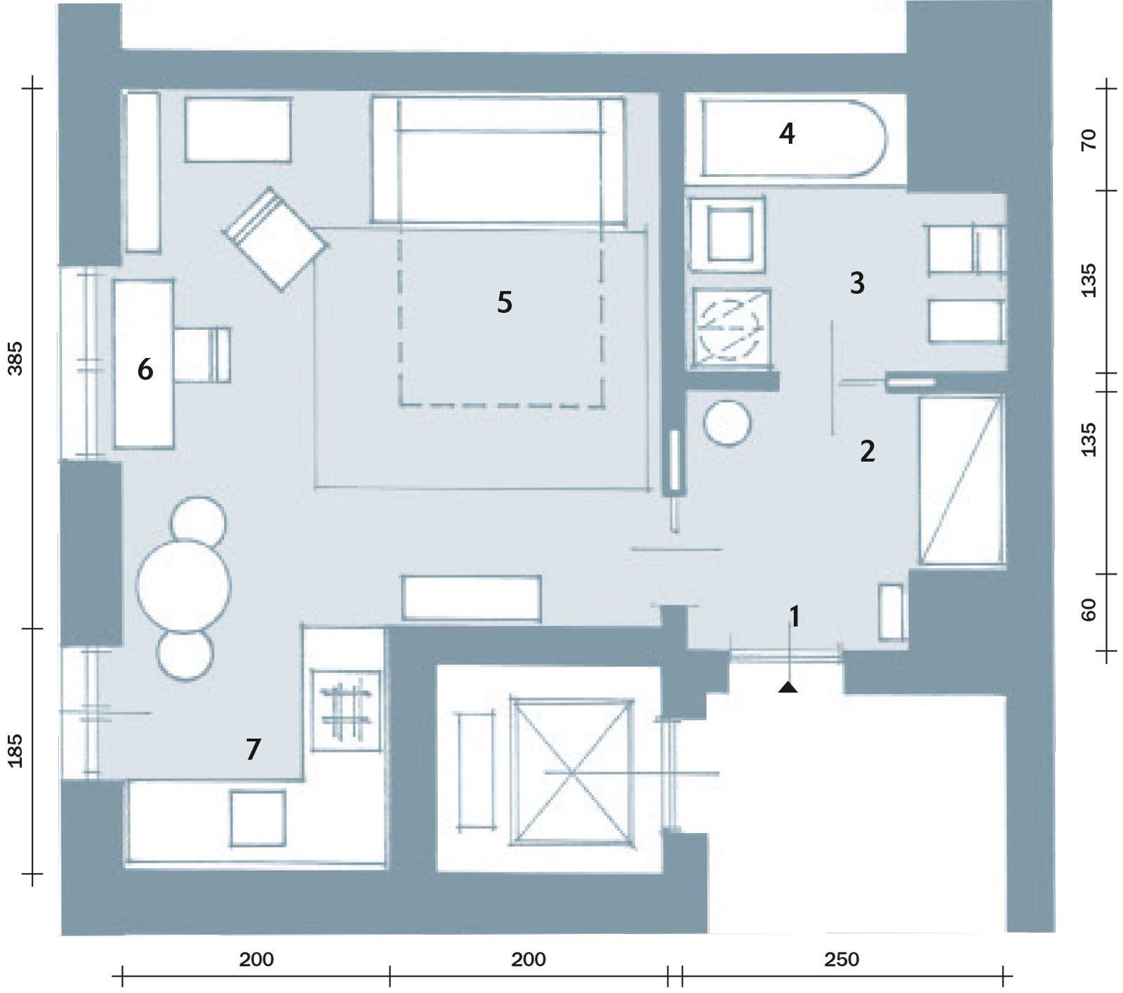 Una casa di 33 mq monolocale deffetto  Cose di Casa