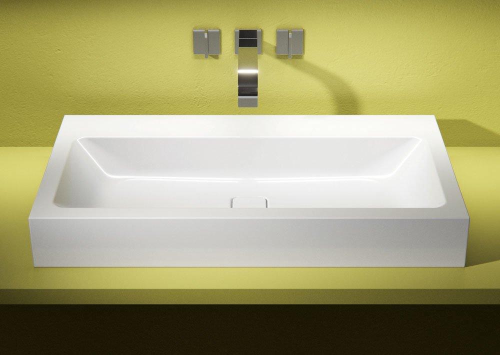 Lavabi dappoggio su console per un bagno contemporaneo