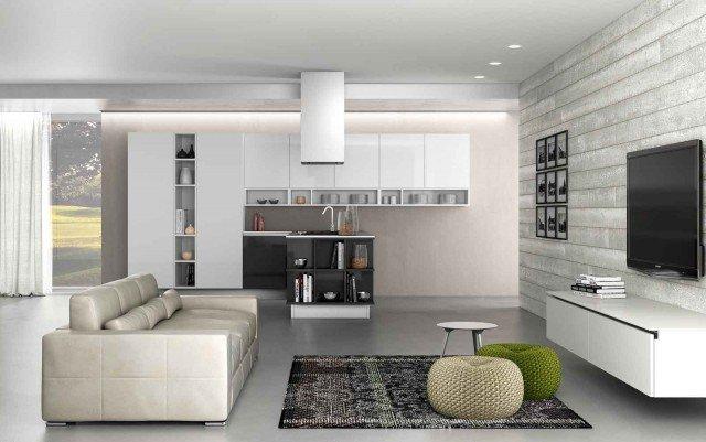 Cucina e soggiorno in un unico ambiente 3 stili  Cose di Casa