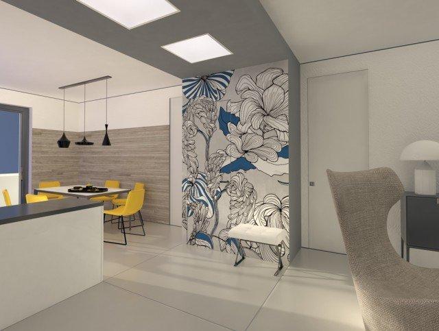Il ripostigliodispensa ricavato nel soggiornocucina Progetto in 3D  Cose di Casa