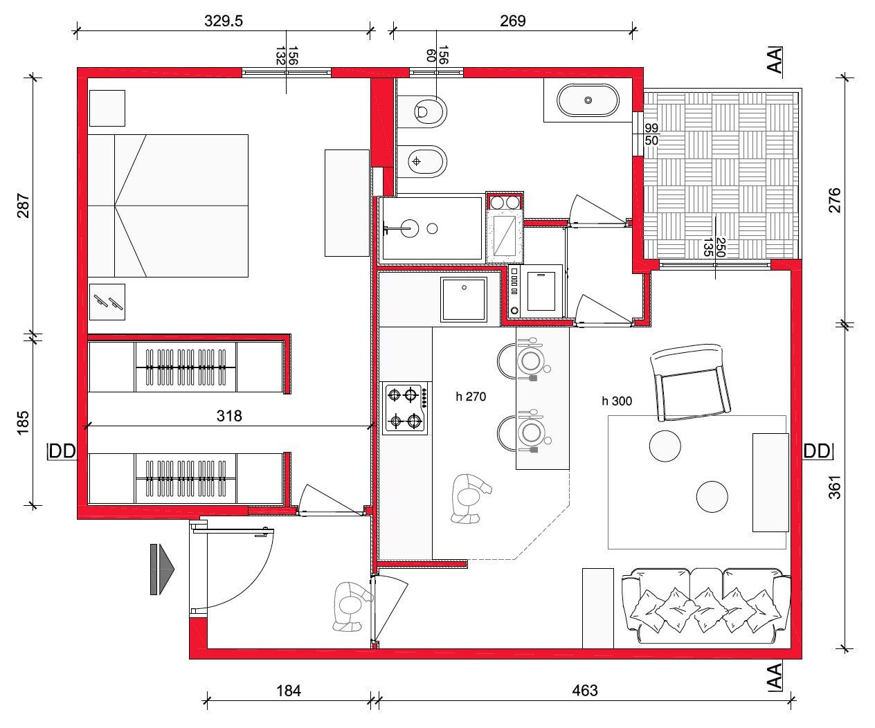 Mini casa 47 mq ben sfruttati  Cose di Casa