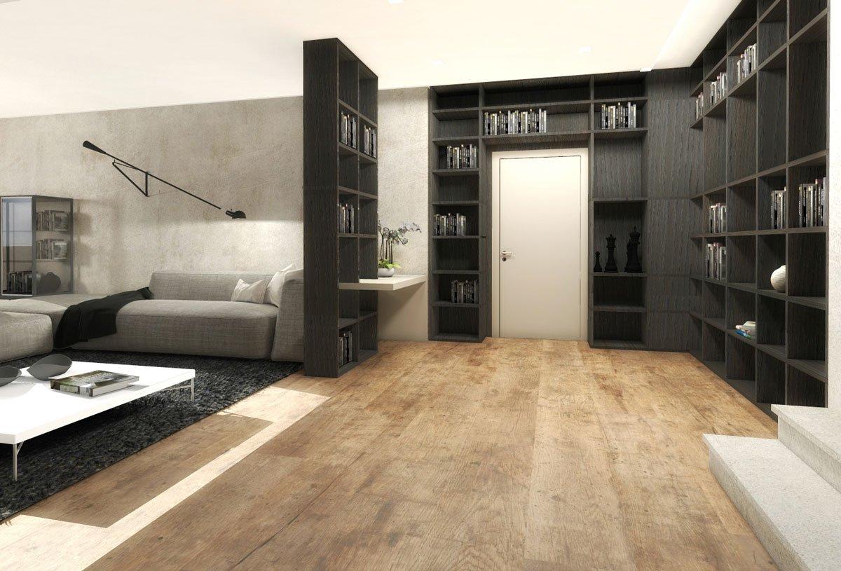 Ingresso aperto sul soggiorno due progetti darredo in 3D