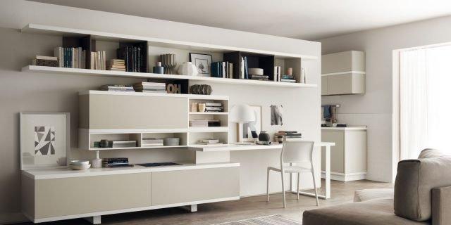 Angolo studio in soggiorno integrato nella libreria o in un mobile trasformabile  Cose di Casa