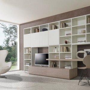 73 x 50 cm, colore: Angolo Studio In Soggiorno Integrato Nella Libreria O In Un Mobile Trasformabile Cose Di Casa