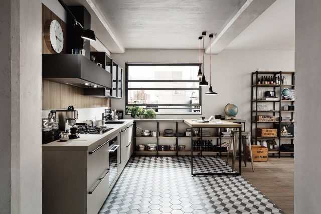 Cucine dal carattere deciso per atmosfere industrial style
