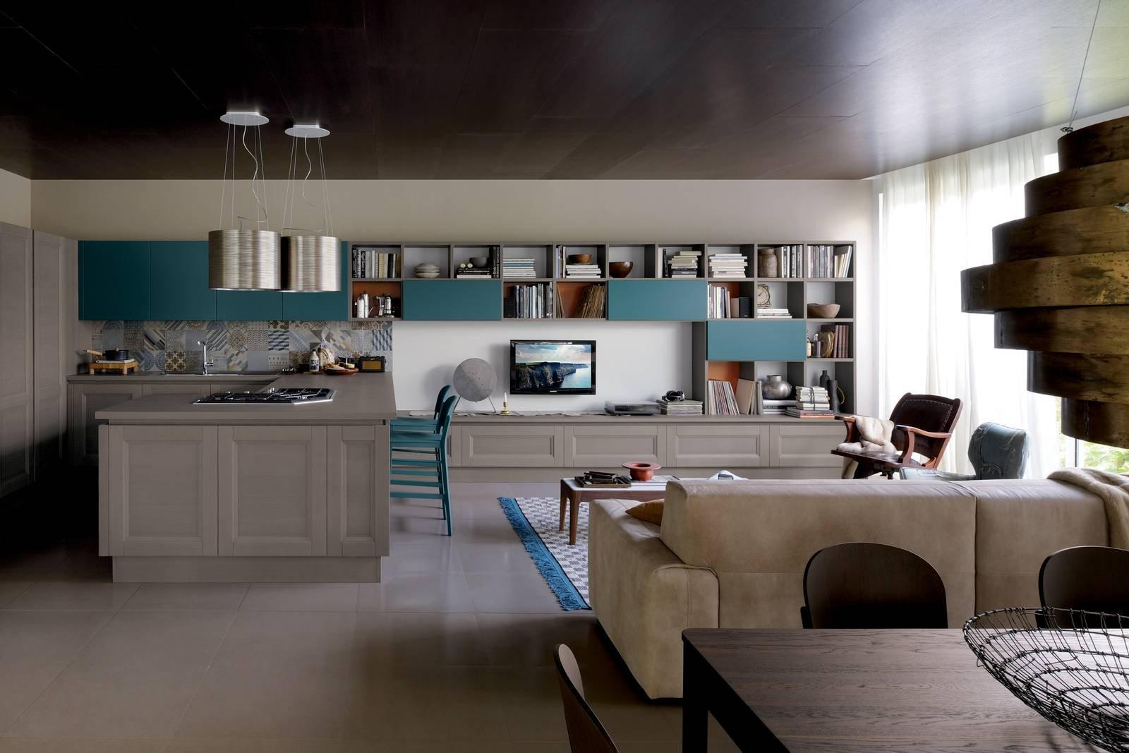 Soggiorno Con Cucina | Cucina Con Finestra Su Soggiorno Con Okap ...