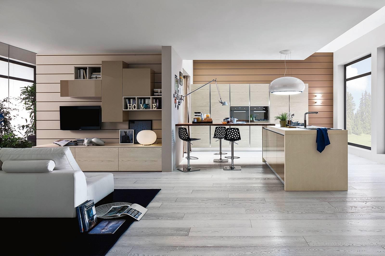 Il soggiorno la pianta rettangolare è ottenuta con il divisorio di. Progetti 3 Modi Di Vivere La Cucina Open Space Parzialmente Aperta Separata Cose Di Casa