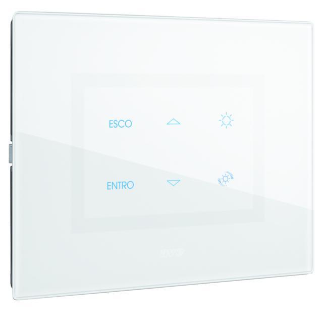 Dispositivo multi-touch di AVE per comandare in modo automatico le tapparelle. (www.ave.it)