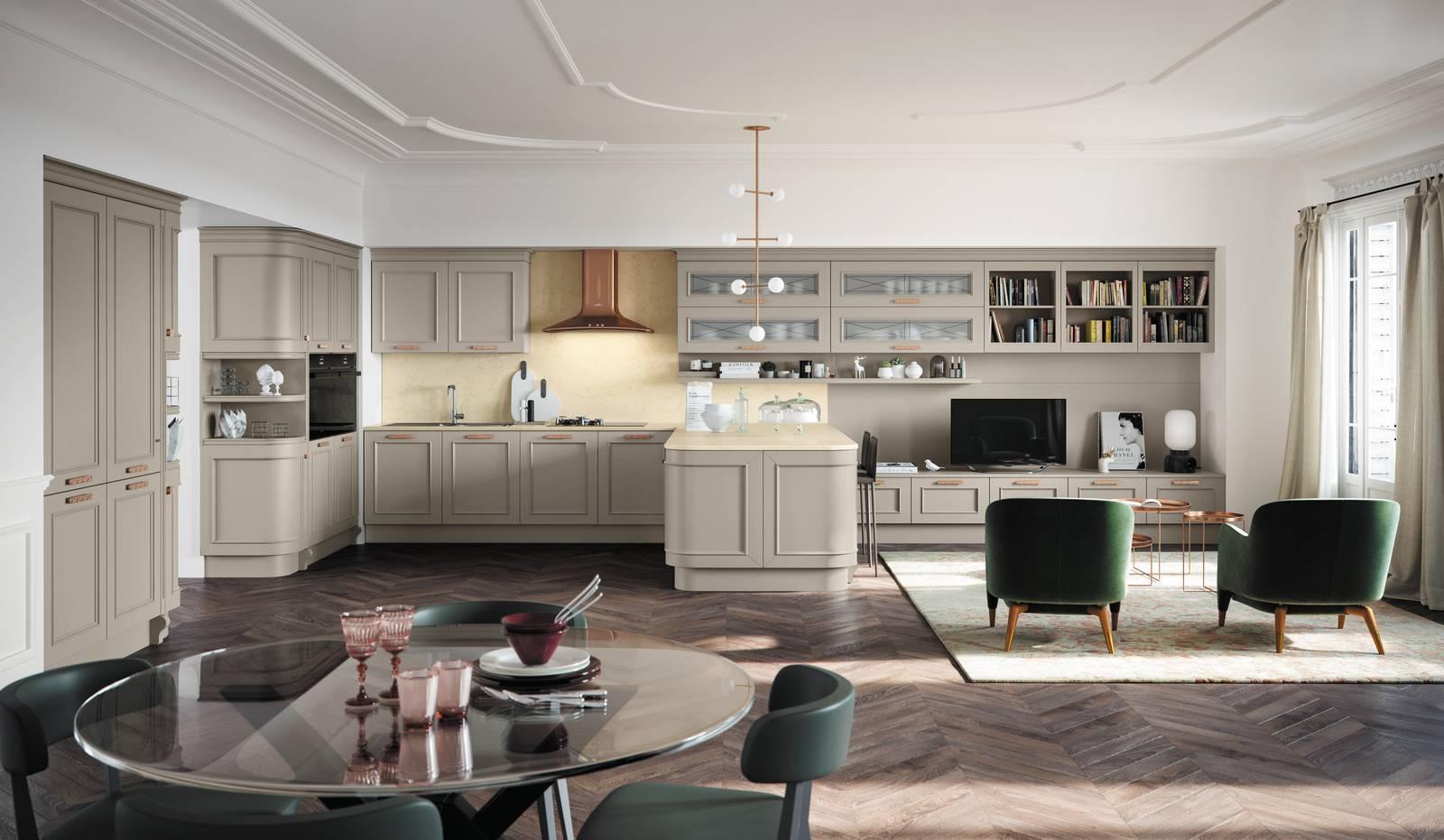 L'arredamento classico contemporaneo è un mix di forme, decorazioni e materiali,. Soggiorno E Cucina Open Space Ma Quale Finitura Scegliere Per I Mobili Cose Di Casa