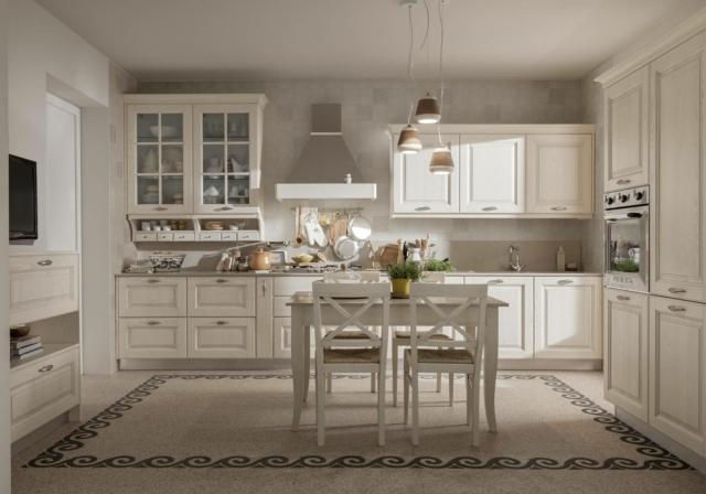 Cucine in stile country 13 modelli in legno o in laccato