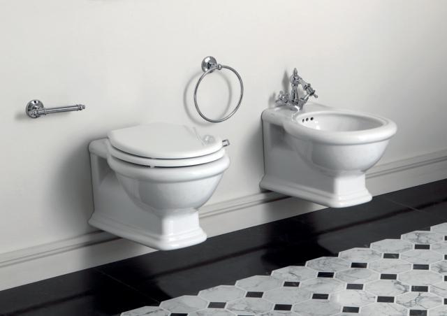 Sanitari classici per un bagno elegante e dal fascino