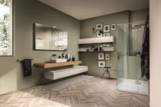 Pensile da cm 20 per bagno in arredo bagno. Mobili Lineari A Sviluppo Orizzontale Per Il Bagno Moderno Cose Di Casa