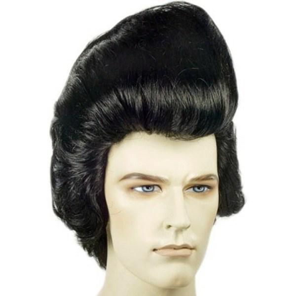 Deluxe Pompadour Elvis Wig Hair 1950s