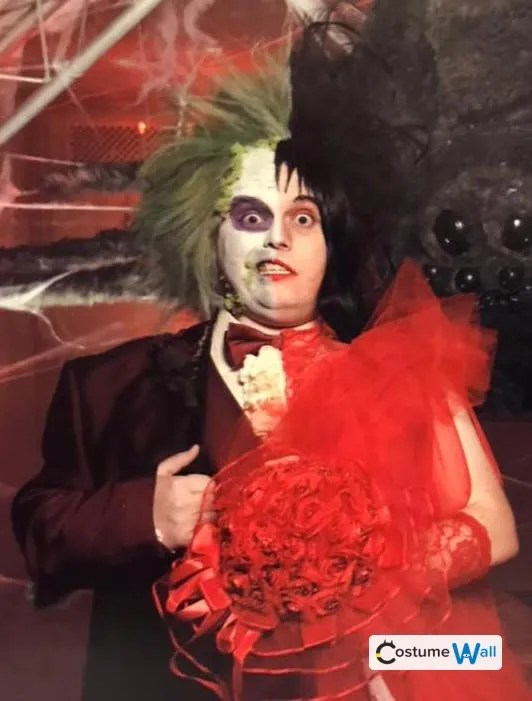Beetlejuice  Lydia The Original Red Wedding  Halloween Costume Contest 2018