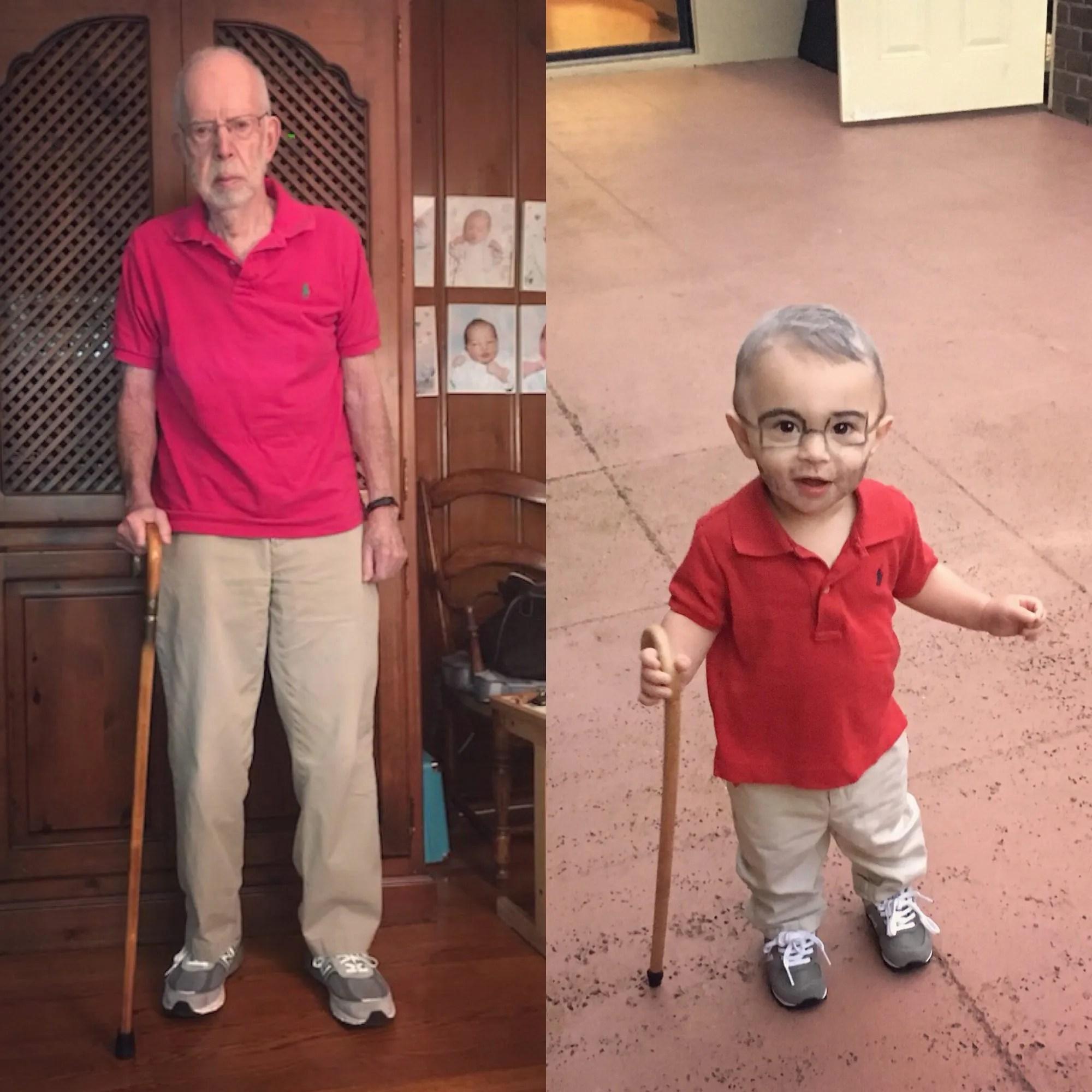 little grandpa halloween costume