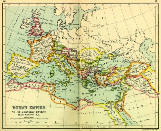 The Roman Empire at its greatest extent