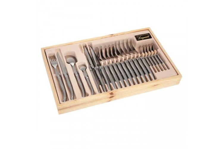 menagere laguiole tribloc 24 pieces metal pradel