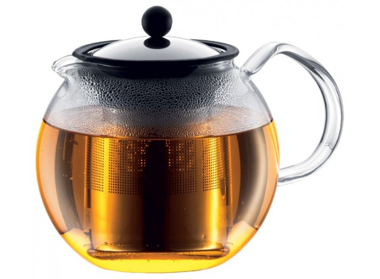 theiere bodum assam a piston avec filtre inox 1l 8 tasses