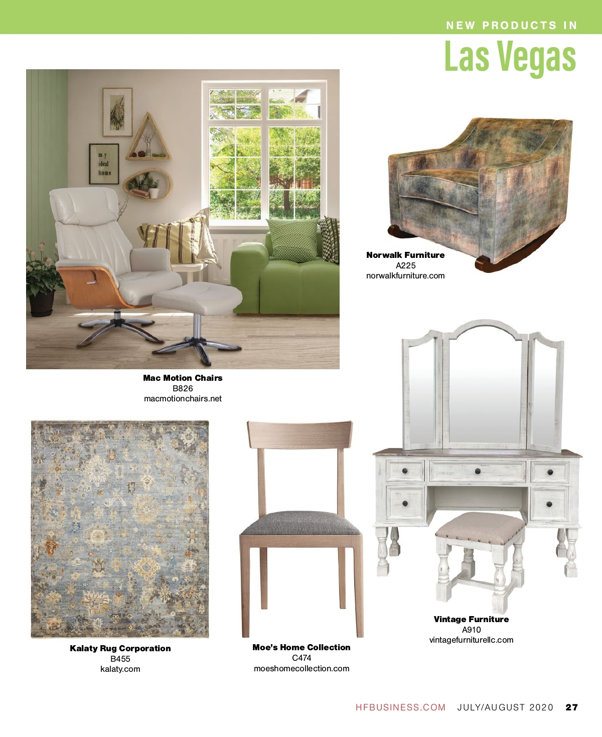 home furnishings business july august 2020