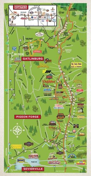Map Of Gatlinburg Area : gatlinburg, MonsterBookAreaMap2020