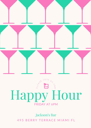 Happy Hour Invite For Coworkers : happy, invite, coworkers, Happy, Invitation, Templates, Adobe, Spark