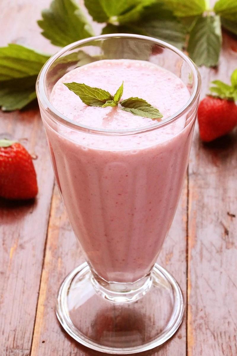 Strawberry Vanilla Milkshake Weight Watchers Kitchme