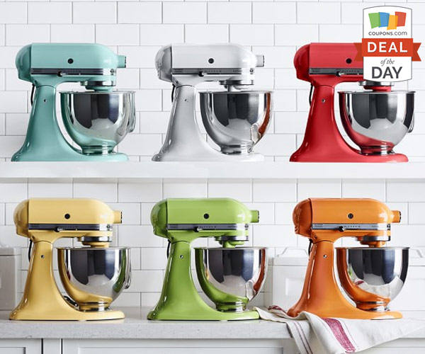 kitchen aid coupons stuff for sale deal of the day 40 off kitchenaid 5 qt stand mixer thegoodstuff shop now at macys