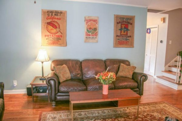 sofa sack reviews prices for sectional sofas diy wall art from old potato sacks - crafting a green world
