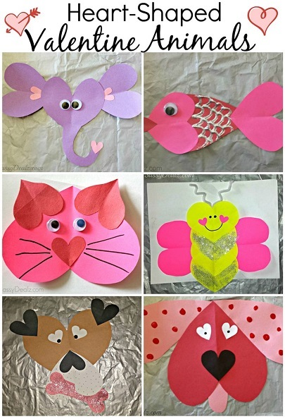 Heart Shaped Crafts : heart, shaped, crafts, Valentine's, Heart, Shaped, Animal, Crafts, Crafty, Morning