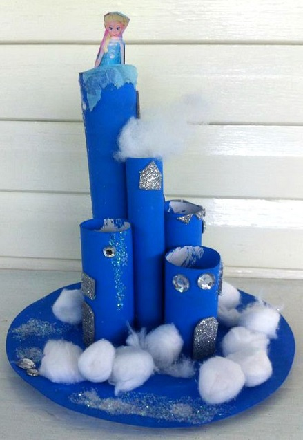 Elsa's Frozen Castle Cardboard Craft