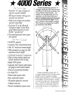 Pioneer Specifications CraneMarket