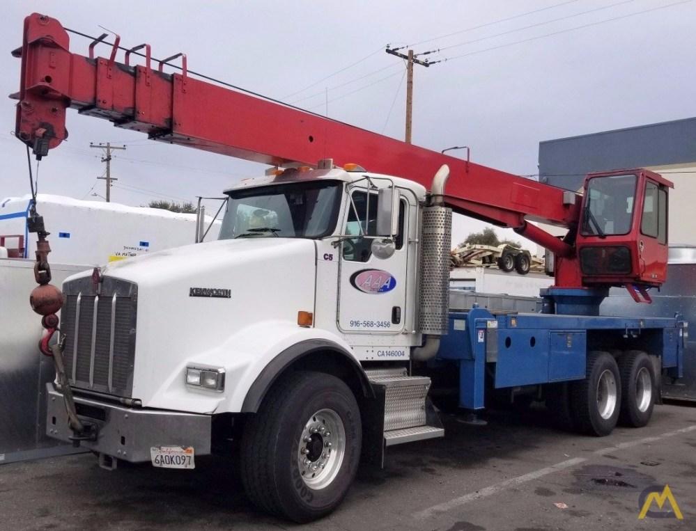 medium resolution of manitex 22101s 22 ton boom truck crane on kenworth t800 0