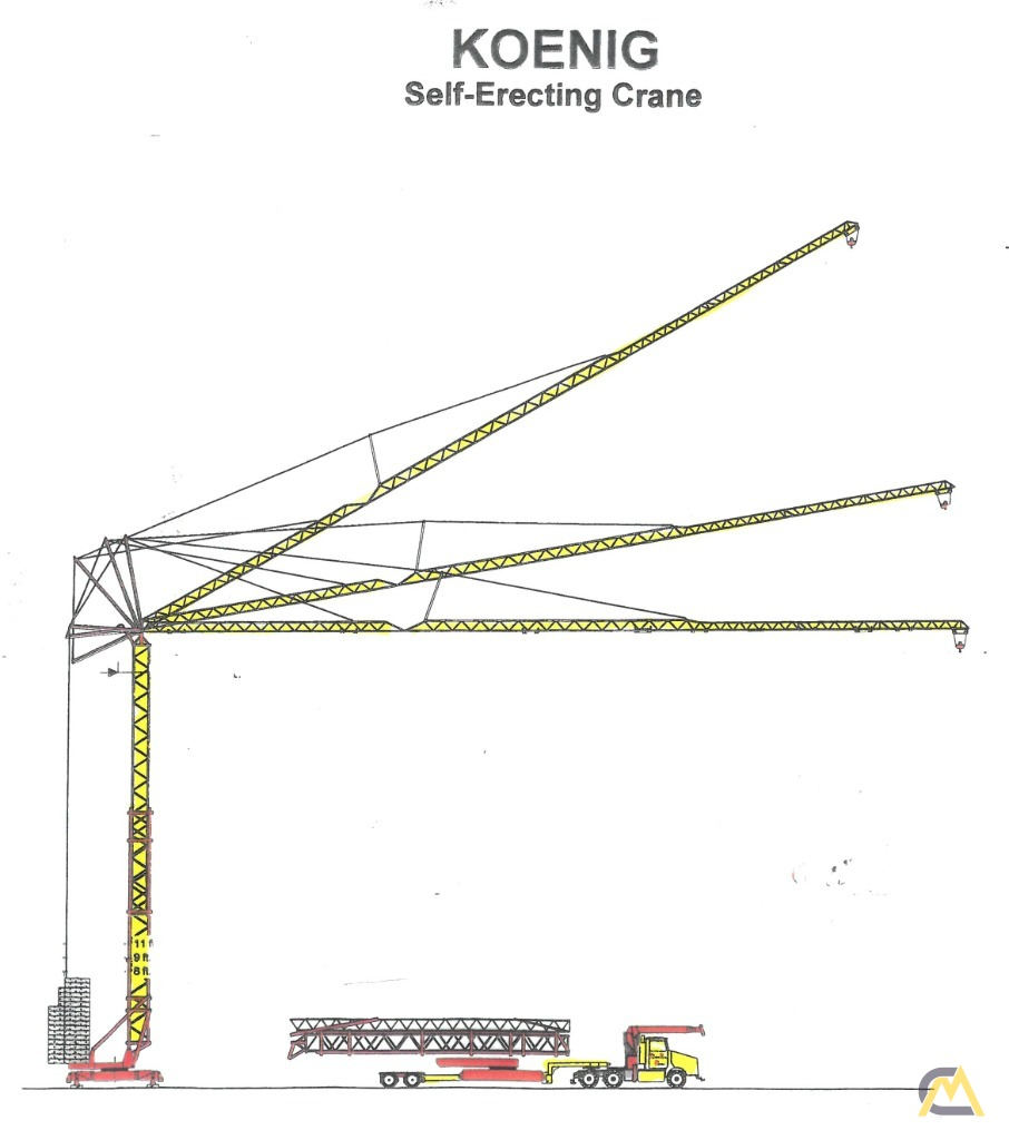 hight resolution of koenig k 70 4 4 ton self erecting tower crane 2